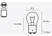 Ampoules S25 12V-21/5W ampoules