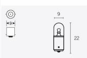 Ampoules T8.5 6V-4W ampoules