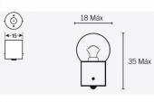 Ampoules G18 6V-10W ampoules