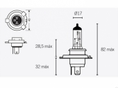 Ampoules H4 12V60/55W ampoules