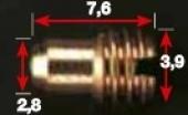 Gicleur DE STARTER Mikuni Mkz DE 20 A 100  gicleurs mikuni