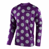 Maillot Troy Lee Designs GP Polka Dot Violet Gris 2018 maillots pantalons