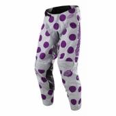 Pantalon Troy Lee Designs GP Polka Dot Gris Violet 2018 maillots pantalons