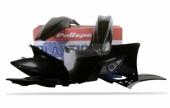 Kit plastiques Polisport noir Kawasaki 250 KX-F 2010 plastique polisport