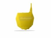 Plaque numéro frontale Polisport jaune 125 RM  2001-2003 plastique polisport