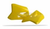 Ouïes de radiateur Polisport jaune 125 RM 2004-2009 plastique polisport