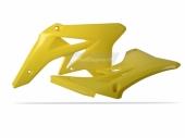Ouïes de radiateur Polisport jaune 250 RM-Z 2007-2009 plastique polisport