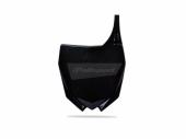 Plaque numéro frontale Polisport noir 250 YZ-F 2010-2013 plastique polisport