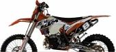 KIT DECO 2D RACING TEAM KTM MEO JUNIOR 125 SX 1998-2016 kit deco