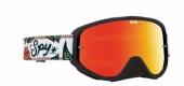 LUNETTES SPY Woot Race Calaveras noir/blanc écran AFC miroir rouge lunettes