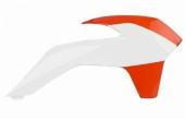 Ouïes de radiateur Polisport couleur origine orange/blanc 125 SX 2015 plastique polisport