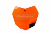 Plaque numéro frontale Polisport orange 250 SX 2013-2016 plastique polisport