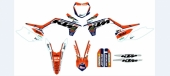 KIT DECO 2D RACING TEAM KTM MEO CROSSMOTO KTM 125 SX  1998-2018 kit deco