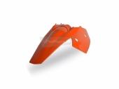 Garde-boue arrière + plaques latérales intégrées Polisport orange 125 EX-C 2004-2007 plastique polisport