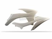 Ouïes de radiateur Polisport blanche 125 EX-C 2012-2013 plastique polisport