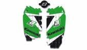 KIT DECO DE GRILLE DE RADIATEUR  KAWASAKI 450 KX-F 2009-2016 kit deco radiateur