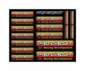 Planche stickers PRO CIRCUIT planche auto collants