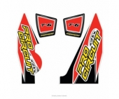 stickers echapement pro circuit T-6 YAMAHA 250 YZ-F Stickers echappement