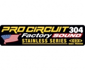 stickers echapement pro circuit R-304 FACTORY Stickers echappement
