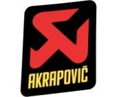 stickers echapement AKRAPOVIC 75mm Stickers echappement