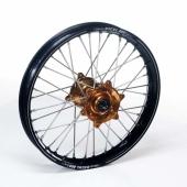 Roue avant complète Haan Wheels jante noire/moyeu or Suzuki 450 RM-Z 2005-2017 roues completes
