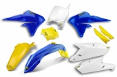 KIT PLASTIQUE CYCRA BLEU/BLANC/JAUNE 450 YZ-F 2014-2016 kit plastique cycra powerflow