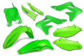 KIT PLASTIQUE CYCRA 6 ELEMENTS VERT FLUO KAWASAKI 250 KX-F 2013-2016 kit plastique cycra powerflow