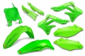 KIT PLASTIQUE CYCRA 6 ELEMENTS VERT FLUO 450 KX-F 2013-2015 kit plastique cycra powerflow