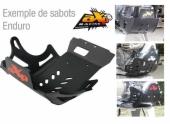 Sabot Enduro AXP noir Husqvarna 125 TE 2014-2017 sabots axp