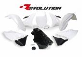 Kit plastiques RACETECH Revolution + réservoir blanc/noir Yamaha 125 YZ 2005-2017 kit plastiques racetech