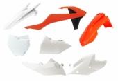 Kit plastiques RACETECH couleur origine orange/blanc KTM 125 SX 2016-2018 kit plastiques racetech