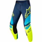 Pantalon Cross ALPINESTARS Techstar Factory BLACK/TEAL/YELLOW FLUO maillots pantalons