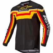 Maillot Cross ALPINESTARS Techstar Factory PETROL/YELLOW FLUO/RED maillots pantalons