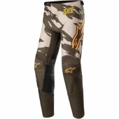 Pantalon Cross ALPINESTARS RACER TECH ORANGE FLUO/BLANC/BLEU 2020 maillot pantalon kids