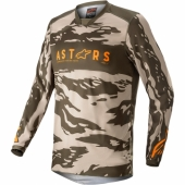 Maillot Cross ALPINESTARS RACER TECH ORANGE FLUO/BLANC/BLEU 2020 maillot pantalon kids