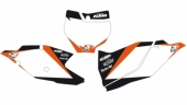 Fonds de plaque Dream Graphic 2 Blackbird blanc KTM 250 SX-F 2016-2017 fond de plaque