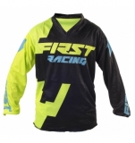 MAILLOT FIRST RACING CODE KID NOIR/LIME FLUO 2018 maillot pantalon kids