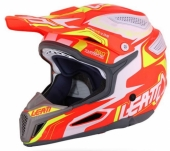 Casque LEATT GPX 5.5 Composite orange/jaune/blanc casques