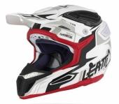 Casque LEATT GPX 5.5 Composite blanc/noir/rouge casques