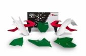 Kit plastiques RACETECH Vintage '70 édition limitée rouge/vert KTM 125 SX 2016-2017 kit plastiques racetech