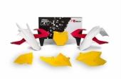 Kit plastiques RACETECH Vintage '70 édition limitée rouge/jaune KTM 125 SX 2016-2017 kit plastiques racetech