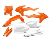 KIT PLASTIQUE CYCRA ORANGE FLUO KTM 350 SX-F 2016-2018 kit plastique cycra powerflow