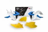 Kit plastique RACETECH vintage bleu/blanc/jaune édition limitée KTM 205 EX-C 2017 kit plastiques racetech