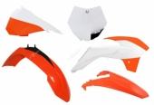 Kit plastiques RACETECH couleur origine orange/blanc KTM SX85 2015-2017 kit plastiques racetech