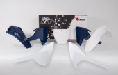 Kit plastiques RACETECH couleur origine  blanc Husqvarna  125 TC 2016-2017 kit plastiques racetech