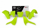 Kit plastiques RACETECH jaune fluo Husqvarna 125 TC 2016-2017 kit plastiques racetech