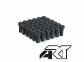 Kit têtes de rayon universel anodisées A.R.T noir pour rayons Ø 4mm têtes de rayons