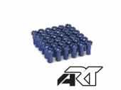Kit têtes de rayon universel anodisées bleu A.R.T  pour rayons Ø 4mm têtes de rayons