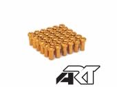 Kit têtes de rayon universel anodisées A.R.T or  pour rayons Ø 4mm têtes de rayons