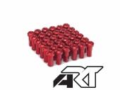 Kit têtes de rayon universel anodisées A.R.T rouge pour rayons Ø 4mm têtes de rayons
